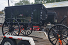 Horse Drawn Black Acrylic Hearse
