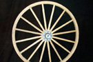 Small Decorator Wooden Wagon Wheels