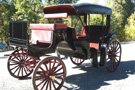 Horse Drawn Victoria Black Carriage
