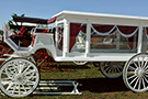 Horse Drawn White Acrylic Hearse